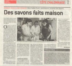 Article sur les stages savons (saponification à froid) organisés à la savonnerie