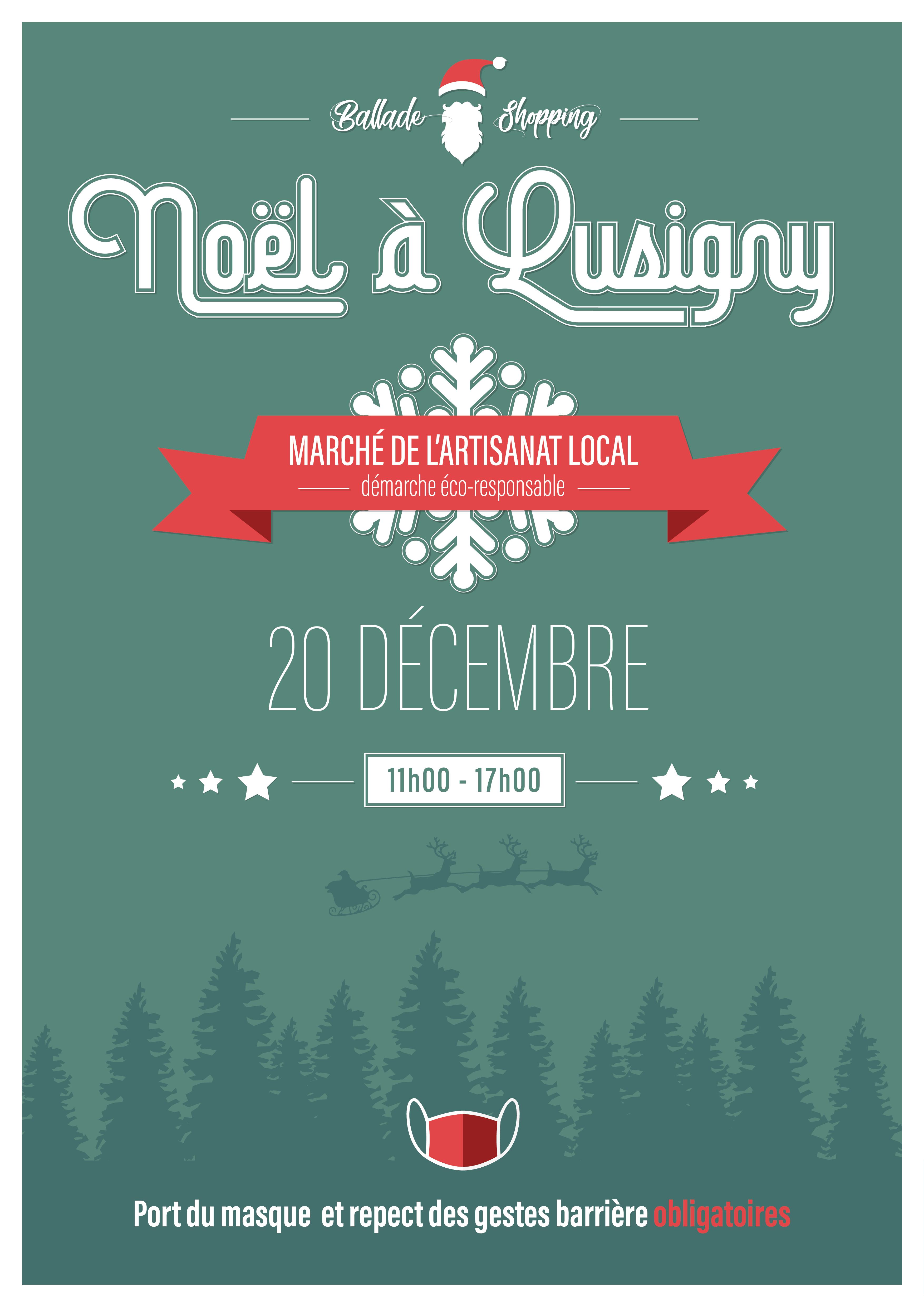 Marché de Noël à Lusigny sur Ouche le 20 décembre 2020 entre 11h et 17h