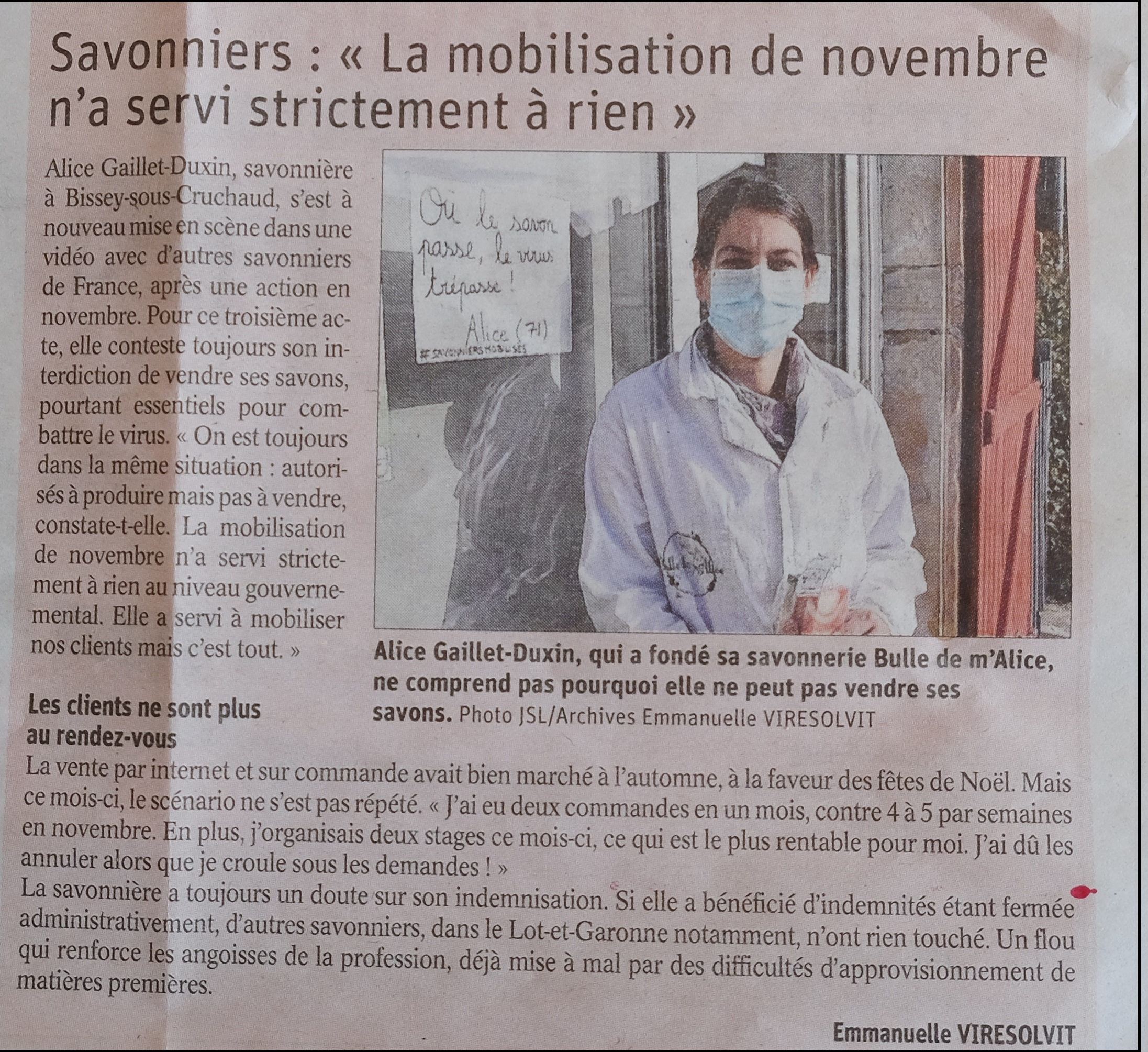 Article du JSL du 22 avril 2021