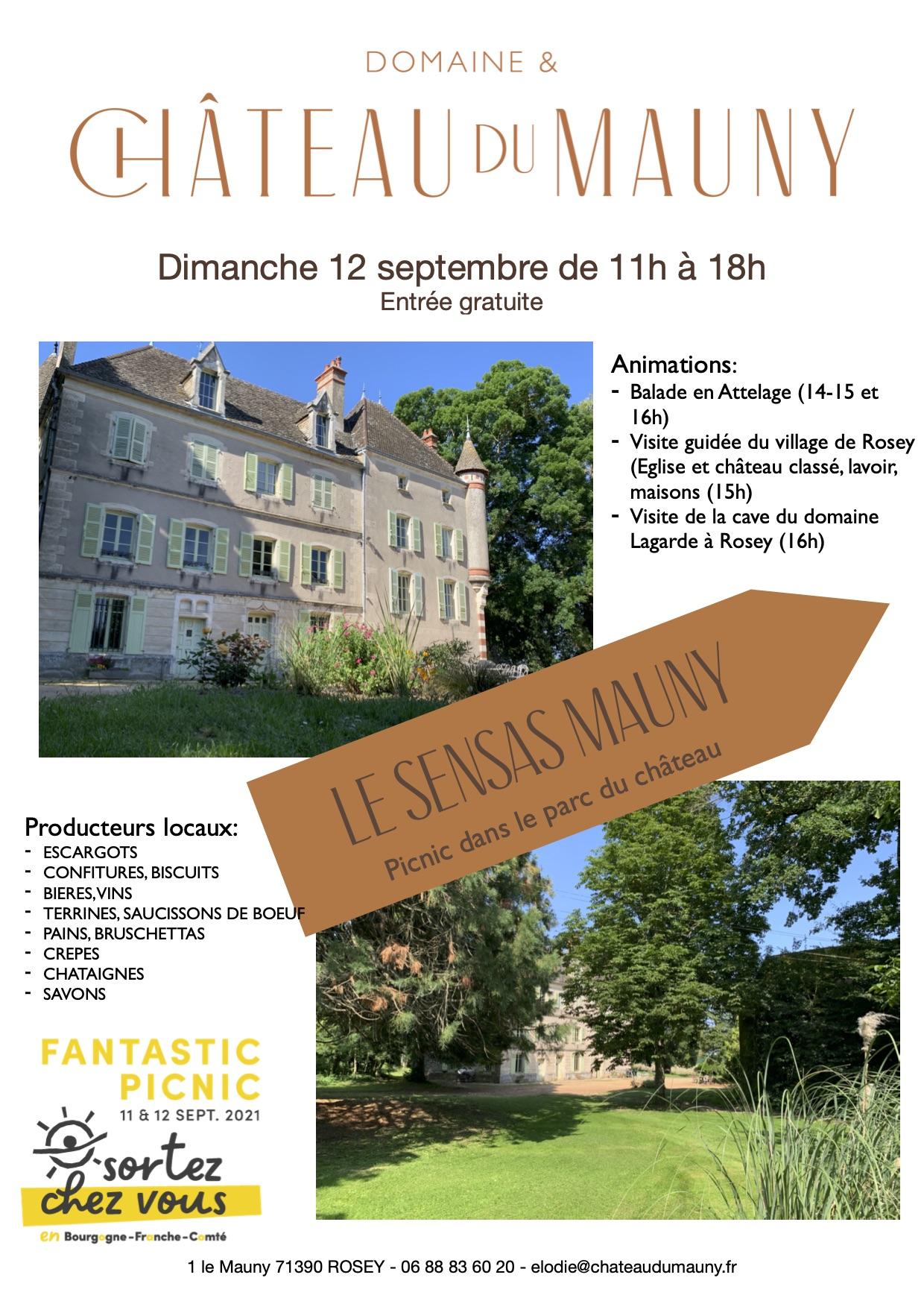 Read more about the article Fantastic picnic au château de Mauny (Rosey) le 12/09/2021