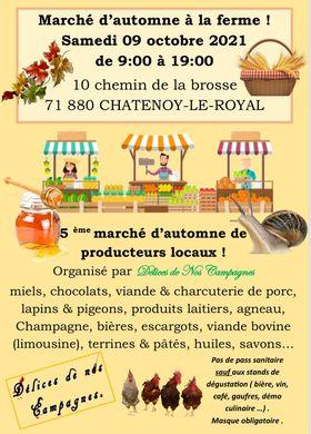 Read more about the article Présence de la savonnerie Bulle de m'Alice au marché d'automne du grand Coppis à Chatenoy-le-royal le 09 octobre 2021